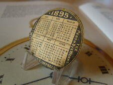 POCKET WATCH CASE CALENDAR PAPER  ANTIQUE (VICTORIAN) PERTH SCOTLAND. C~1895.