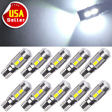 10x HID White Canbus T10 10-SMD LED Interior Plate Light Bulbs W5W 192 921 2825