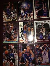 CLEVELAND CAVALIERS auto autograph basketball card LOT X9 Anderson Varejao +more