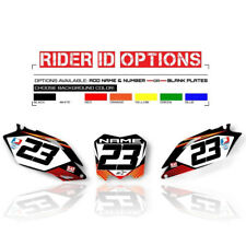 1997 1998 1999 HONDA CR 250 CUSTOM NUMBER PLATE BACKGROUNDS GRAPHICS KIT DECAL