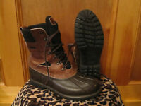 Mens LL BEAN GORETEX THINSULATE Maine Hunting Shoe Duck Boots Vibram Gumlite 9GM