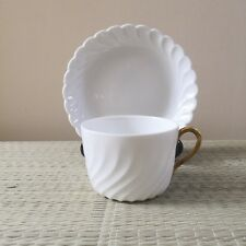 Authentic Richard Ginori Ancona-shaped Tea Cup and Saucer
