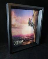 Rare The Legend of Zelda Breath of the Wild 3D Framed Art - Licensed Nintendo