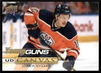 2019-20 UD Series 1 Canvas Young Guns #C114 Joakim Nygard - Edmonton Oilers