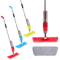 Spray Floor Mop Water Spraying Floor Cleaner Microfibre Pads Kitchen Tiles Wood