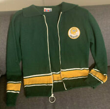 Vintage NFL Football Sears Green Bay Packers Zip Up Sweater