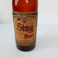 VTG Stag Beer Bottle With Paper Label Empty Brown Glass Extra Dry Pilsner 1936