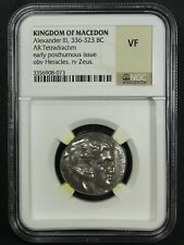 New Listing336-323 Bc Alexander Iii Kingdom of Macedon Ar Tetradrachm Heracles Zues Ngc Vf