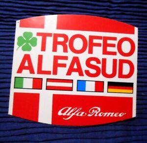 ADESIVO VINTAGE - TROFEO ALFASUD ALFA ROME -