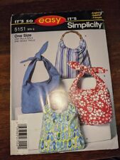 Simplicity 5151 Bags  Sewing Pattern