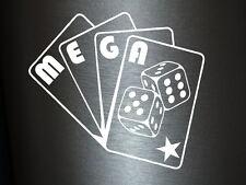 1 x 2 Plott pegatinas Mega Poker tarjetas sticker tuning decal Illest ill OEM nuevo