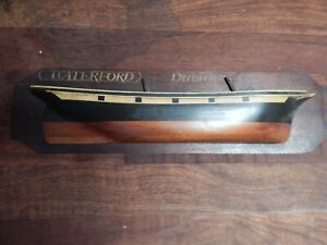 Early Vintage half boat wood model Waterford Dublin 1849 hand made vivid paint