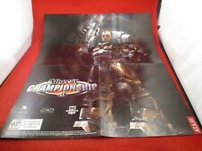 Unreal Championship Microsoft Xbox Foldable Promo Poster Insert ONLY