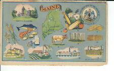 AT-088 - Maine Advertising Trade Card, Peoples Life Insurance Co Vintage