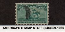 1893 US SC 232 Columbian Exposition, Flag Ship of Columbus - Used, Bright XF