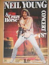 NEIL YOUNG  1987 FRANKFURT ++ orig. Concert Poster - Konzert Plakat  A0 NEU
