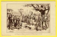 cpa Illustrateur P. KAUFFMANN Les Bourgeois de ROUEN.. Edition du MILLENAIRE