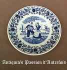 B20140537 - Assiette en faïence de Maastricht décor Delfts - Très bon état