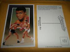 1990 Legends Postcard Muhammed Ali Boxing Legend 1st series