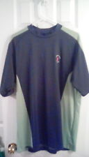 Nike Golf Fit Dry Mock Neck Short Sleeve Activewear Men's Shirt Size Xl Gray Top