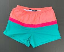 Vintage Polo Ralph Lauren Swimsuit Bathing Suit Water Short Teal Pink Mango XL