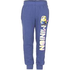 NUEVO Niñas Pantalones Deportivos Pantalón Chándal Die Minions Gris Azul 98 104