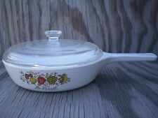 Corning Ware Spice O' Life 6 1/2 Inch Le Persil Pan With A Clear Glass Lid