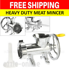 Aluminium Heavy Duty Hand Mincer Manual Operated Fresh Meat Grinder Grinding