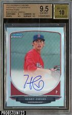 2013 Bowman Chrome Refractor Henry Owens RC Rookie AUTO 21/500 BGS 9.5 w/ 10