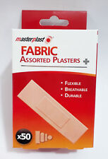 Fabric Plasters Pack Of 50 Assorted Durable Flexible Padded For Extra Comfort UK