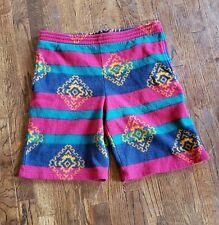 Vintage terry cloth 90s Shorts Mens 36M Pure Water Retro Skate Bright Navajo Euc