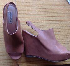 """Steve Madden"" Ladies Sling Back Wedge Shoes  , Leather size UK 6 - £100 New USA"