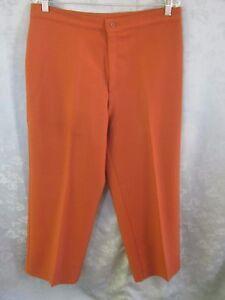 Vintage Levi's Sta Prest Polyester Pants Size 34 Short  Copper Brown Slacks