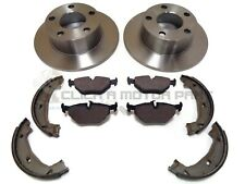 BMW Z4 E85 ROADSTER 2.0 2.2 2.5 REAR SOLID BRAKE DISCS AND PADS HANDBRAKE SHOES