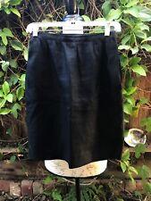 Vintage 1970s-80s Emanuel Ungaro Black Linen Pencil Skirt Paris Xs 2/4 Parallele