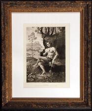"Antique Engraving ""Bacchus"" 1886 Masterpieces of Italian Art Photogravure, OBO"