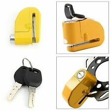 Motorbike/pushbike Disk Lock With Alarm - LK603 - Yellow - Brand New