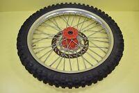 1991 KTM 125 OEM Front Wheel Rim Tire Hub Spokes Rotor Assembly 21x1.6