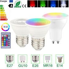 RGBW LED Spotlight Bulb Spot Light Dimmable E27 E14 GU10 MR16  5W Remote Control