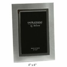 Impressions by Juliana Aluminium TWO TONE BRUSHED/SHINY Photo Frame 4 x 6 Gifts