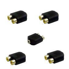 5x Y Cinch Adapter 2 Chinch auf 1 Kopfhörer Klinke Buchse weiblich 3,5mm