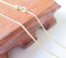 Wheat Link Chain Necklace 45cm Length New Authentic 18K Yellow Gold 1mm