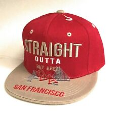 Leader of the Game RED GOLD Snapback Hat Cap Straight outta SAN FRANCISCO