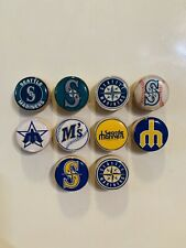Seattle Mariners Magnets - Set of 10 - FREE SHIPPING