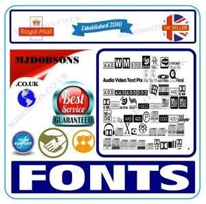 Fonts web desktop publishing presentation card making  DVD FREE 1st POSTAGE