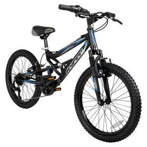 "Kids 20"" Shocker Mountain Bike Black 7 speed Bicycle Cycling Deluxe Padded Seat"