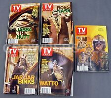 Star Wars Episode 1 Phantom Menace TV GUIDE COLLECTION 5 Copies Unique Covers