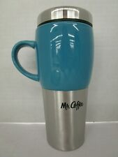 MR. COFFEE TRAVERSE STAINLESS STEEL CERAMIC TRAVEL MUG w/ HANDLE BLUE NT 6533