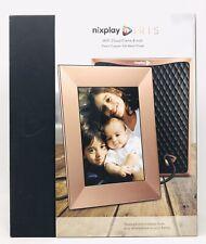 "Nixplay Iris 8"" W08E Peach Copper Wi-Fi Cloud Digital Photo Frame"
