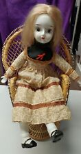 Vintage Porcelain Fabric 18in Doll